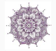 Purple Mandala of the Color Wheel Series Kids Clothes