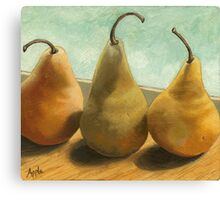 The Three Graces - fruit still life Canvas Print