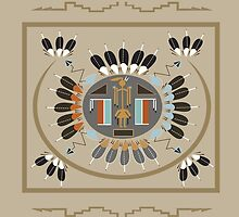 American Native Pattern No. 9 by BakmannArt