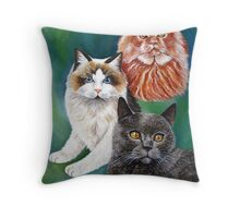 Beautiful Cats Throw Pillow