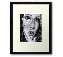 Freckled Up Framed Print
