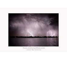 Lightning Thunderstorm on the Lake Photographic Print