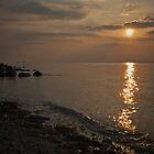 Shoreline Sunset by IanJohnston
