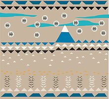 American Native Pattern No. 14 by BakmannArt