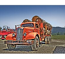 Old Log Truck Photographic Print