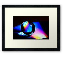 Gel ball on DVD Framed Print
