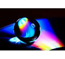 Gel ball on DVD Photographic Print