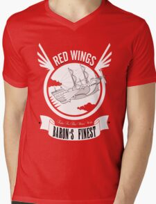 Red Wings of Baron Mens V-Neck T-Shirt