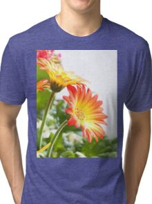 Two Flowers Tri-blend T-Shirt