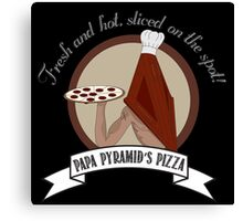 Papa Pyramid's Pizza Canvas Print