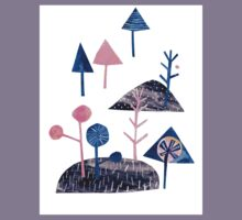 Landscape in Pink and Blue Kids Clothes