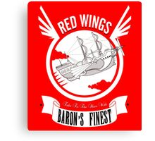 Red Wings of Baron Canvas Print
