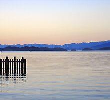 Flathead Lake at Dusk by Robert Meyers-Lussier