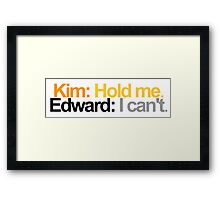 Edward Scissorhands Quote Framed Print
