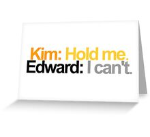 Edward Scissorhands Quote Greeting Card