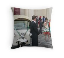 After The Wedding Ceremony Throw Pillow