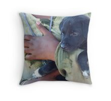 Puppy - Mahabalipuram, India Throw Pillow
