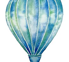 Watercolor Hot Air Balloon by katherinedownie