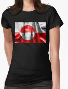Greenland Flag Womens Fitted T-Shirt
