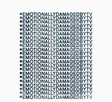 #Emotionally Damaged By TV on Repeat Men's Baseball ¾ T-Shirt