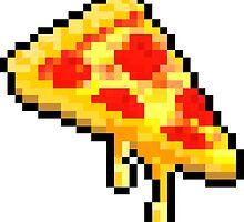 8 Bit Pizza Love by Optimistic  Sammich