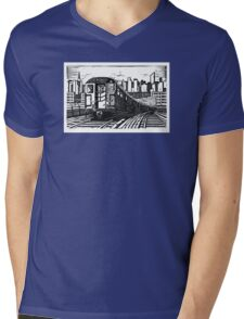 New York Subway Train Mens V-Neck T-Shirt