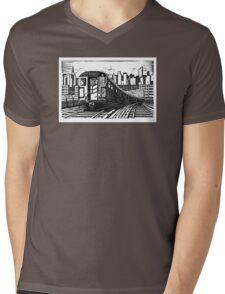 New York Subway Train Mens V-Neck T-Shirt