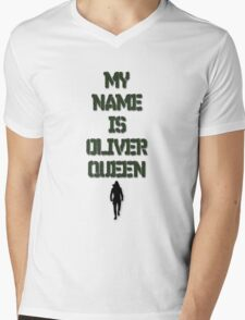 """""""MY NAME IS OLIVER QUEEN"""" Mens V-Neck T-Shirt"""