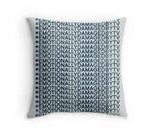 #Emotionally Damaged By TV on Repeat Throw Pillow
