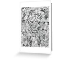 Man in the Middle Greeting Card
