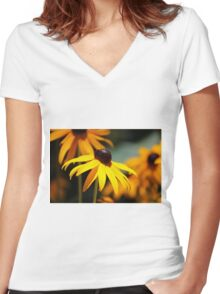 Shine on Me Women's Fitted V-Neck T-Shirt