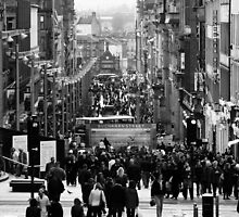 Afternoon of Glasgow Buchanan Street by Chen Sun