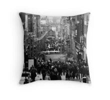 Afternoon of Glasgow Buchanan Street Throw Pillow