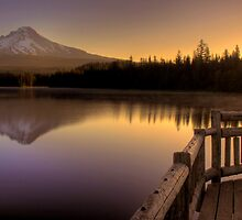 First Light at Trillium Lake by John Absher