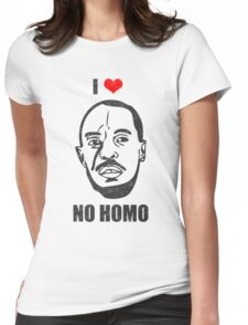 I *HEART* OMAR - 'NO HOMO' Womens Fitted T-Shirt