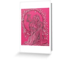 Elven Lady In White Greeting Card