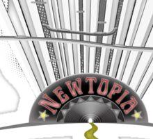 Newtopia - retro future Sticker