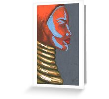 Tribal Silhouette Greeting Card