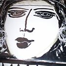 face tile in black and white by catherine walker