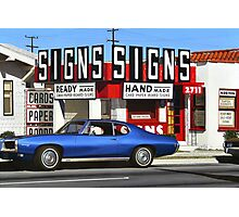 Signs Photographic Print