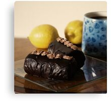 Chocolate cakes Canvas Print