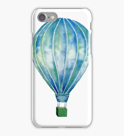 Watercolor Hot Air Balloon iPhone Case/Skin