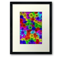 Psychedelic Fur Pattern Texture Framed Print
