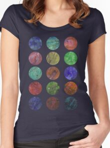 circles and textures Women's Fitted Scoop T-Shirt