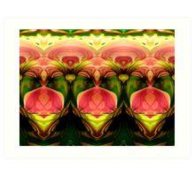 Manipulated Flowers Art Print
