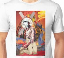 Man at Work with a Contemporary Background. Unisex T-Shirt