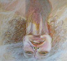 Cracked Down - An Upside Down Portrait Of A Woman by Nancy Mauerman