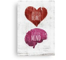 Open Heart, Open Mind Canvas Print