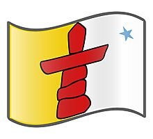 Flag of Nunavut  Photographic Print