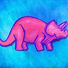 Pink Triceratops  by fixtape